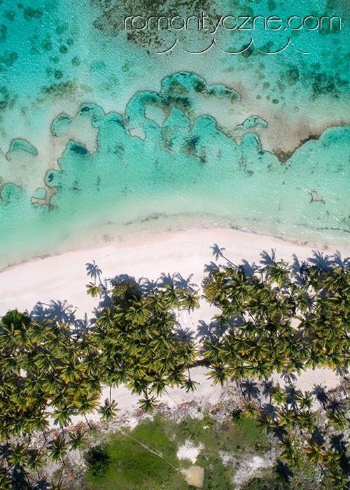 Prywatna plaża na Dominikanie, widok z góry