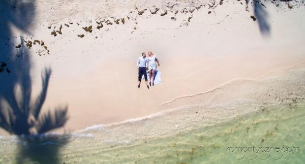 Dominikańska plaża, widok z góry