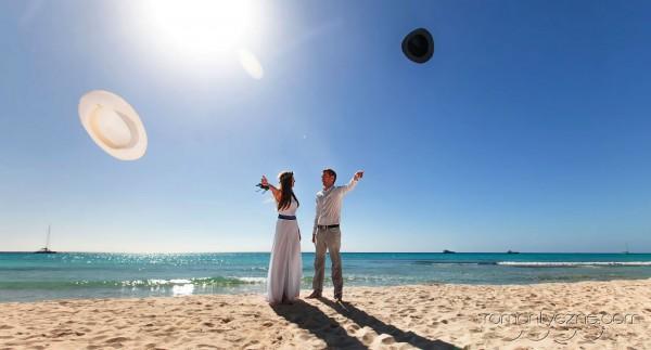 Śluby za granicą na prywatnej plaży, romantyczne ceremonie