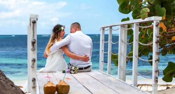 Ceremonie ślubne Saona Island, Dominikana, podróże poślubne na Karaibach