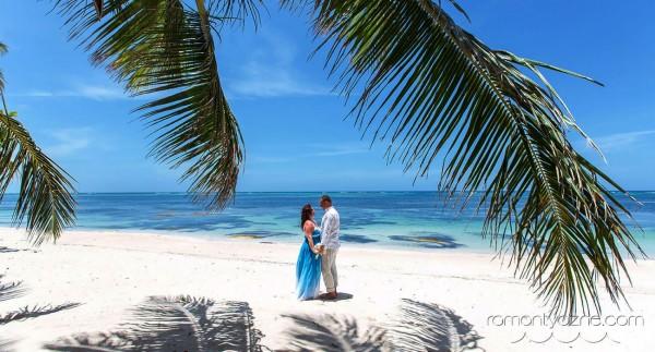 Nieszablonowy ślub na dominikańskiej plaży, tropikalne śluby