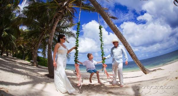 Śluby za granicą Saona Island, Dominikana, tropikalne śluby