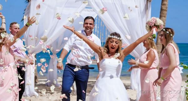 Śluby symboliczne Saona Island, Dominikana, tropikalne śluby
