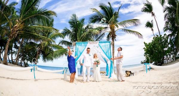 Śluby za granicą kolacja dla dwojga, podróże poślubne na Karaibach