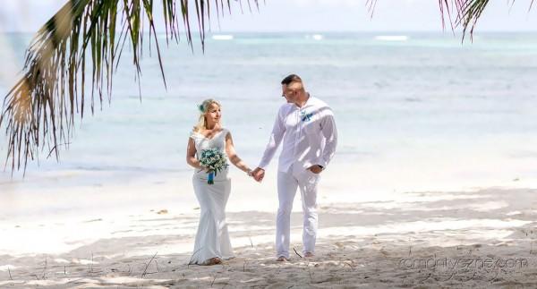 Śluby za granicą na dominikańskiej plaży, podróże poślubne na Karaibach