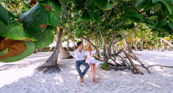 Śluby za granicą na prywatnej plaży, wyspa Saona