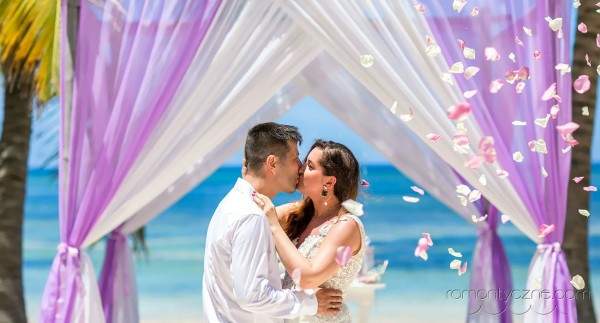 Uroczystości ślubna na wyspie Saona