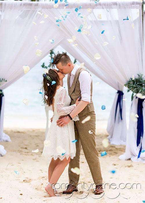 Słoneczna Dominikana, ślub na plaży