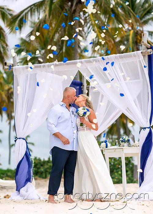 Tropikalne śluby, prywatna plaża
