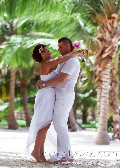 Śluby oficjalne na rajskiej plaży, tropikalne śluby