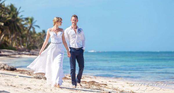 Śluby symboliczne kolacja dla dwojga, tropikalne śluby