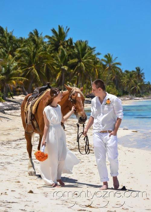 Śluby symboliczne na tropikalnej plaży, Karaiby
