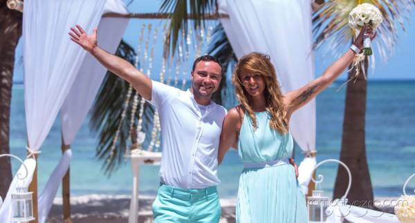 Ceremonie ślubne na tropikalnej plaży, Karaiby