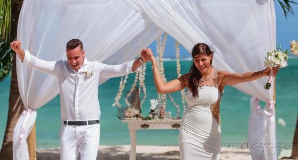 Śluby oficjalne kolacja dla dwojga, tropikalne śluby