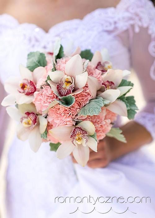 Ślub na rajskiej plaży, bukiet kwiatów