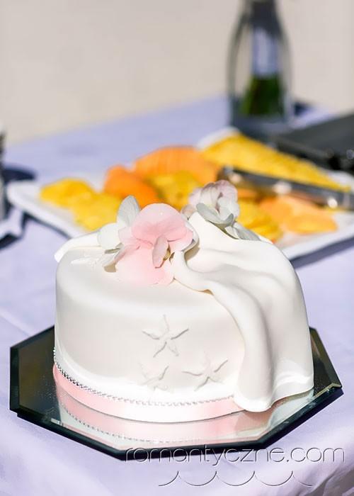 Śluby w Dominikanie, słodkie inspiracje, ślubny tort