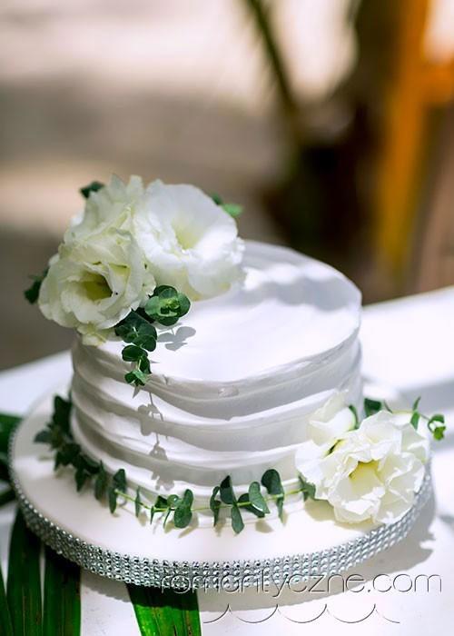 Ślub w Dominikanie, tort ślubny