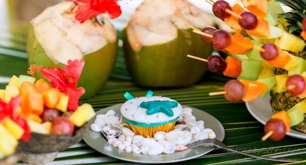 Orzeźwiające owoce, karaibska babeczka