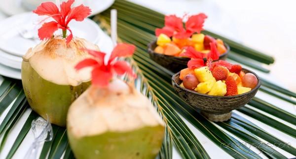 Śluby w Dominikanie, słodkie dodatki, owoce