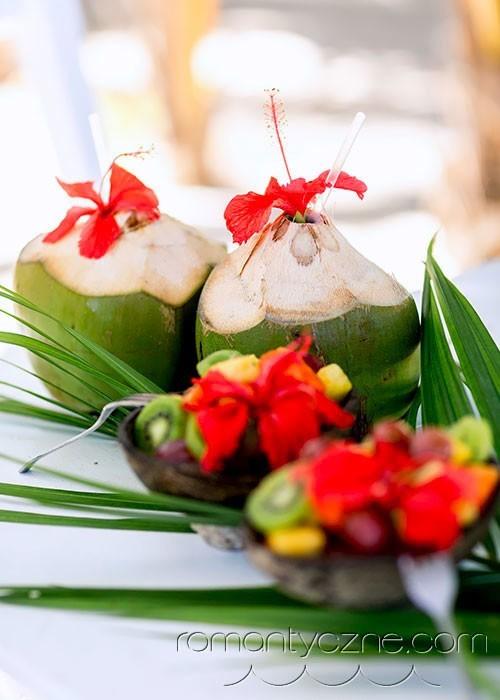 Ślub na prywatnej plaży, karaibskie napoje