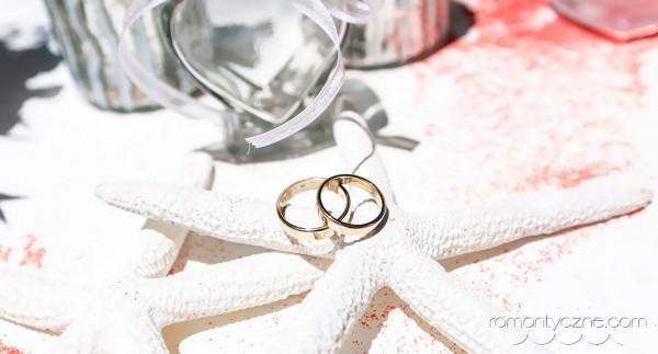 Ślub na plaży, obrączki, Dominikana