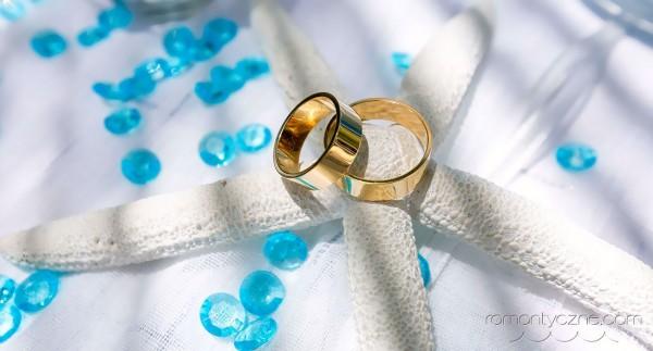 Tropikalne śluby, obrączki ślubne